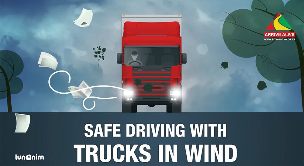 Safe Driving with Trucks in Wind